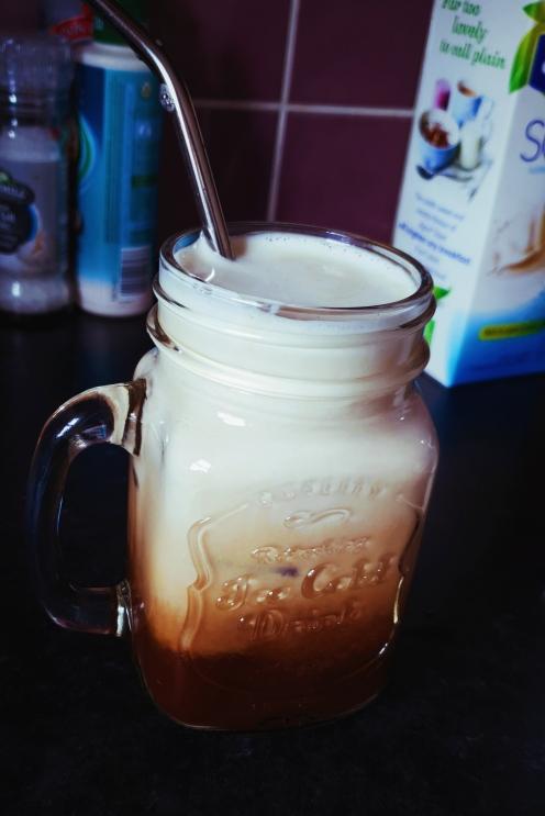 Ta-Dah! One Iced Latte!